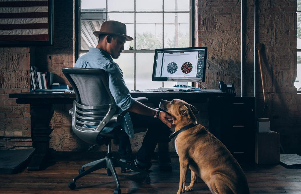 work from home with dog
